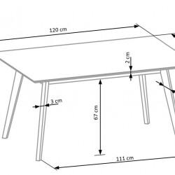 Masa Cordoba + 4 scaune
