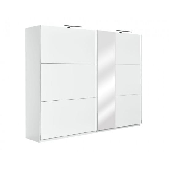 mobilier Elegance ,dulap haine cu usi glisante si oglinda 270cm