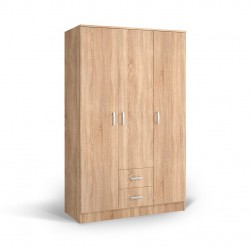 mobilier Ormar 200X123, dulap pentru haine cu 3 usi si sertare